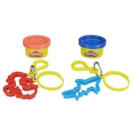 Massinha Play Doh Chaveiros Azul/Vermelho - Hasbro E4996